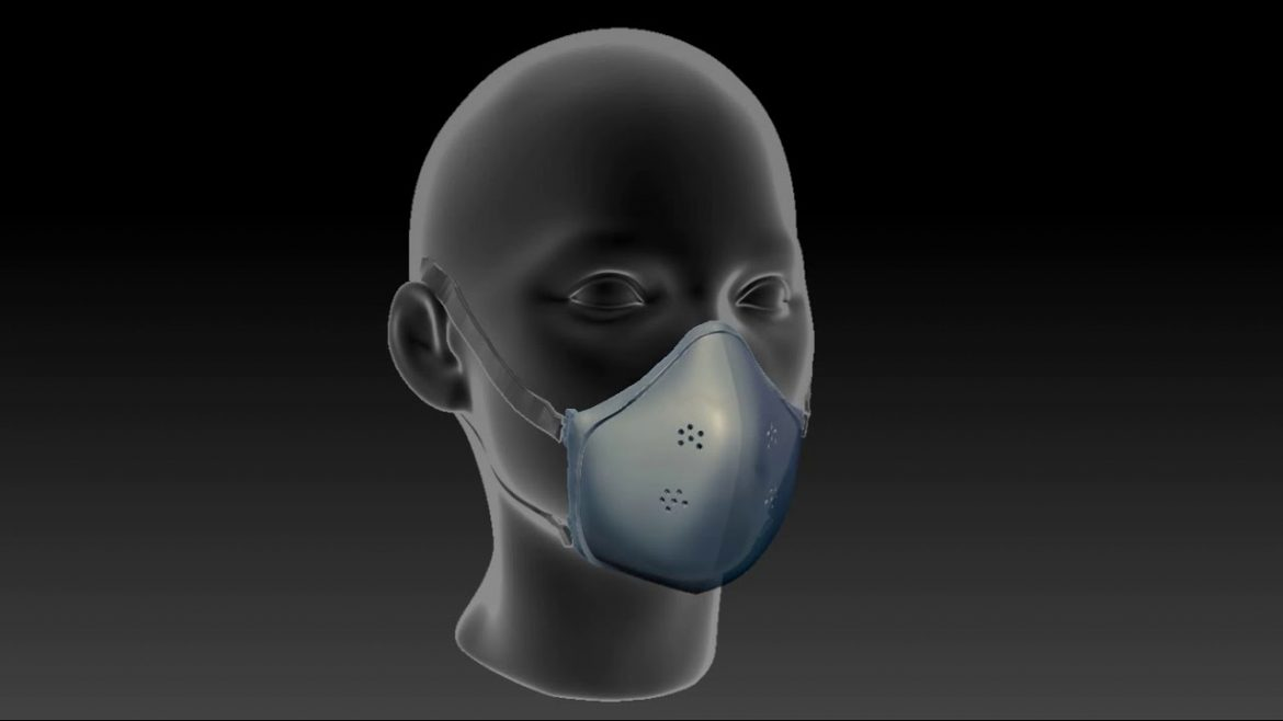 Medical mask on a 3D printer